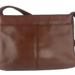 Stone Mountain Brown Leather Purse Zip Pockets